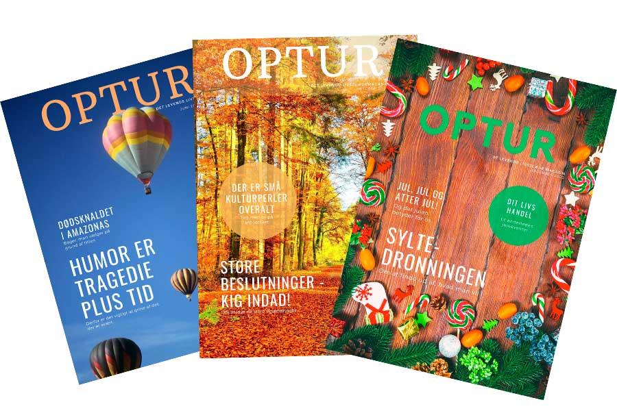3 OPTUR magasiner er spredt ud